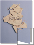 Broken Plaster Map of Iraq