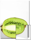 Half of Kiwi Fruit on White Background