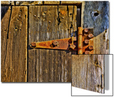 Close-Up of Rusted Door Hinge