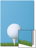Golfball on Tee with Grass
