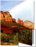 Partial Rainbow over Red Rocks with Bluish Sky  Sedona  Arizona  USA