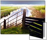 Fence  Dyke and Horizon  Holland