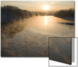 Connecticut River in Montague  Massachusetts at Sunrise on a Frosty Morning