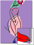 Illustration of Tender Love Heart and Lips