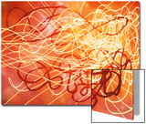 Abstract Image in Red and Yellow