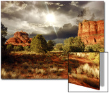 Bell Rock and Courthouse Butte  Sedona  Arizona  USA