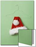 Santa Hat on Wire Hanger