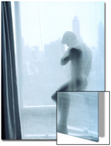 Nude Man Behind a Curtain