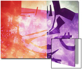 Abstract Image in Purple  Red  and Black