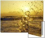 Water Splashing with Sun in the Background