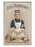 A Nurse Washes Her Hands with Jeyes' Disinfectant