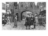 Boswell and Johnson Walking Down Fleet Street  London