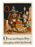 An Organ-Boy Entertaining Children Accompanied by a Monkey
