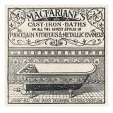 Advertisement for 'Macfarlanes Cast Iron Baths'