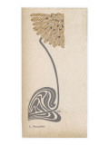 A Stylized  Art Nouveau Depiction of a Flower - Possibly a Dandelion