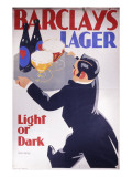 Barclay&#39;s Lager Advertisement for Light or Dark