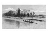 Cambridge Eight Rowing on the River Cam  1890