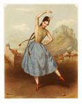 Fanny Elssler Austrian Ballet Dancer  Seen Here Dancing the Cracovienne in 'La Gypsy'
