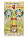 Carter's Lemon Syrup - Lemonade in a Moment