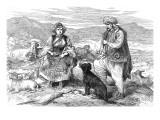 Dalmatian Shepherd and Shepherdess  1875