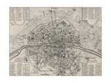 Detailed Map of Paris  Showing the Many Churches