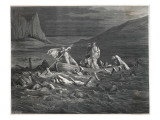 Charon  the Ferryman of the Styx  Carries Dante and Virgil to the Underworld