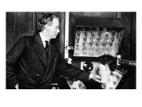 John Logie Baird  with Ventriloquist's Dummy Head