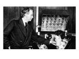 John Logie Baird  with Ventriloquist's Dummy Head