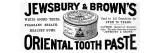 Jewsbury and Browns Oriental Toothpaste