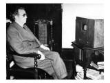 John Logie Baird Watching Stereoscopic Television  1942