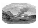 HMS 'sutlej' and HMS 'Devastation' Attacking an Indian Villa