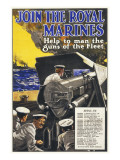 Join the Royal Marines Recruitment Poster for the Navy