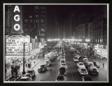 Night Scene of Chicago State Street  c1953