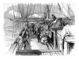 Passengers on the Deck of an Emigrant Ship  1849