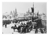 Nicolas II Is Crowned Tsar at St Petersburg the Procession Crosses the Kamennyy Bridge