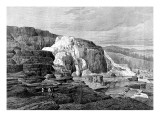 Mammoth Hot Springs  Gardiner River  Yellowstone  1874