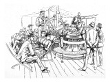 Passengers on the Deck of a Trans-Atlantic Steamer  1888