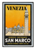 Label from the Albergo and Ristorante San Marco  Venice  Italy
