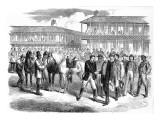 President Jefferson Davis Leaves His Escort; American Civil