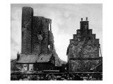 Scarborough Castle  Damaged by German Shells