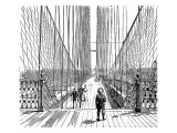The Brooklyn Bridge  New York  1883