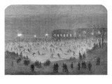 Skating in Central Park  New York  1865