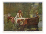 The Lady of Shalott Floating Down the River