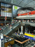 View Inside the New Central Railway Station  Berlin  Germany