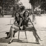 Two Girls in Swimsuits and High Heels