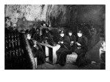 Women Knitting in a Wine-Cellar in a 'Much Bombarded' Rheims