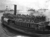 Steamship Transporting Soldiers - Aden