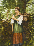 A Ukrainian Woman in Traditional Costume