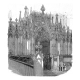 The Organ Screen  Westminster Abbey  1848