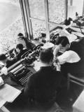 The Press Box at the Berlin Olympics  1936